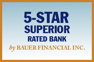 "Image: 5-Star ""Superior"" Rated Bank by Bauer Financial Inc."