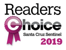 Image of Santa Cruz Sentinel WINNER OF READERS CHOICE 2019 logo