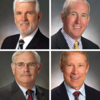 Photo of four new board members