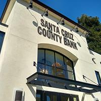 Image: Front facade of Santa Cruz County Bank North Pacific Avenue Branch Santa Cruz California